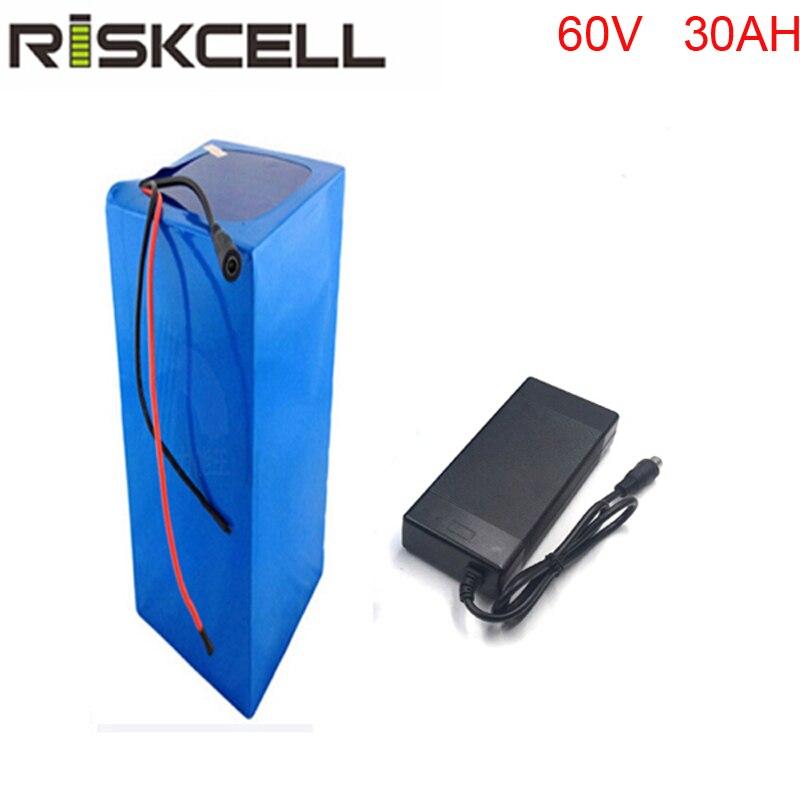 60 v 30ah batería recargable de alta potencia 18650 batería de litio de 60 voltios de 3000 W para el sistema solar/UPS