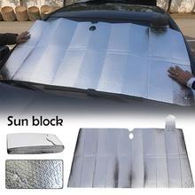 Folding Sunproof Aluminum Foil Insulation Bubble Front Sun Block Shade Car Glass Sunshade Visor Accessories