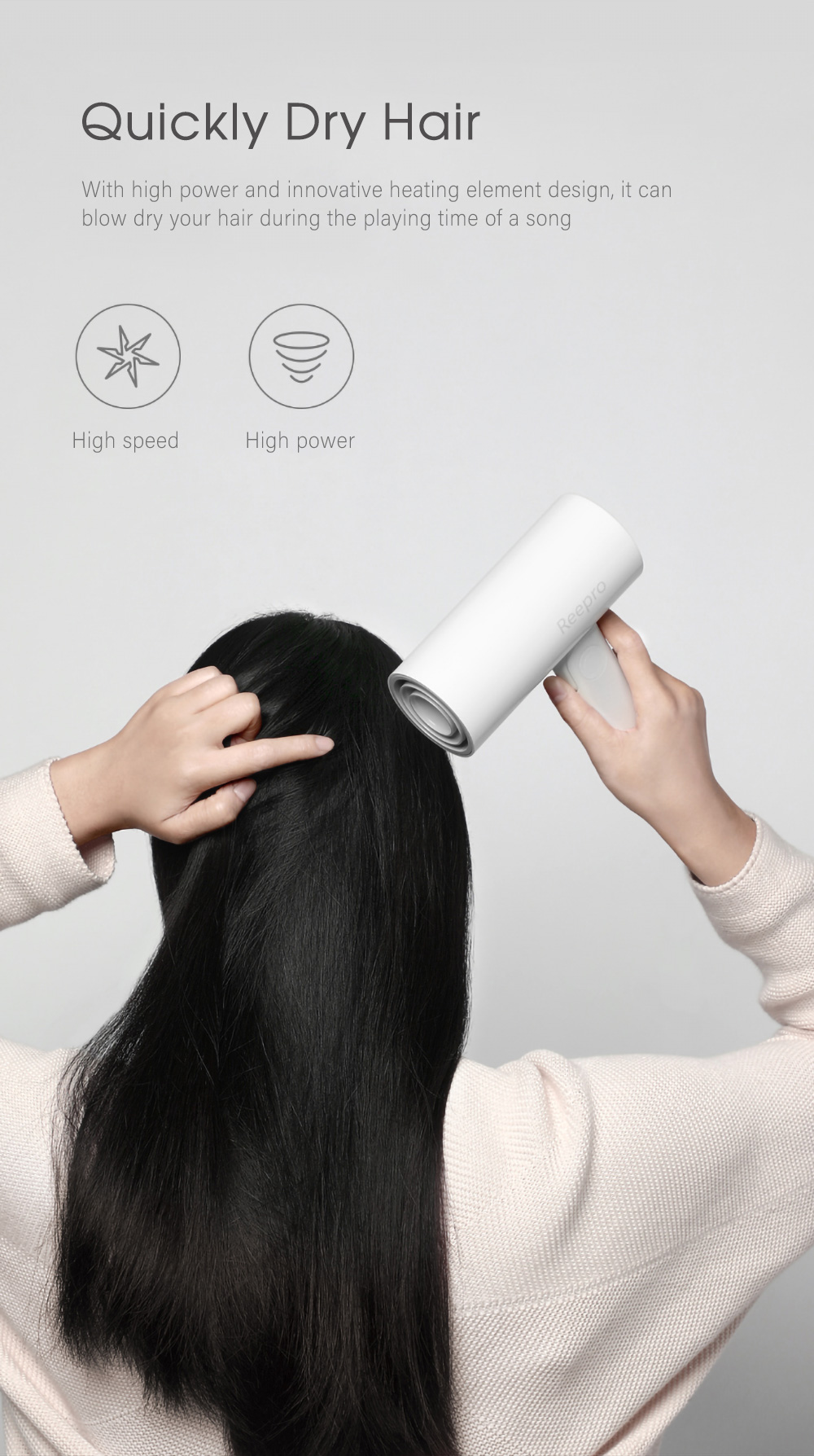 Reepro RP - HC04 Mini Folding Electric Hair Dryer