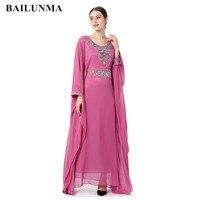 Fashion Embroidery long sleeve muslim dress gown Dubai moroccan Kaftan clothing Caftan Islamic women Abaya Turkish arabic dress