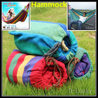 1 Set Free Shipping Portable 150 Kg Load Bearing Outdoor Garden Hammock Hang Bed Travel Camping