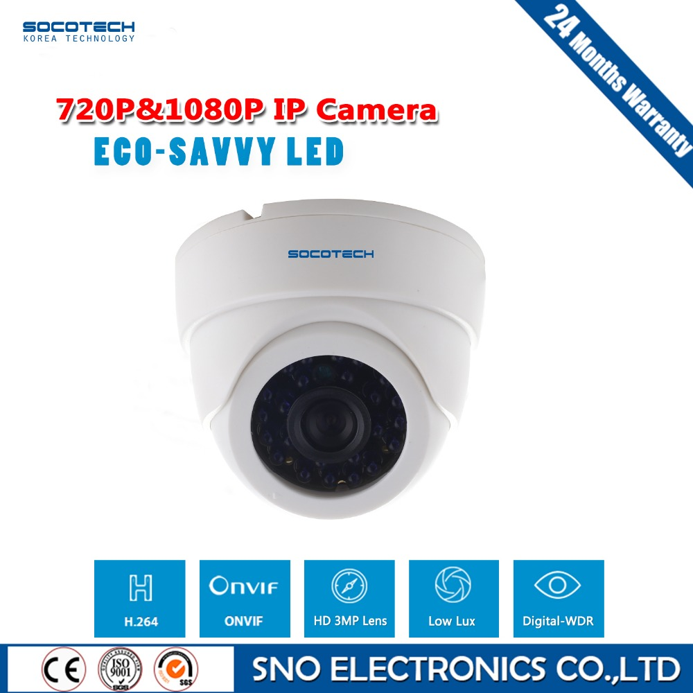 SOCOTECH 720P 1080P HD Dome IP Camera Home Security Onvif ...