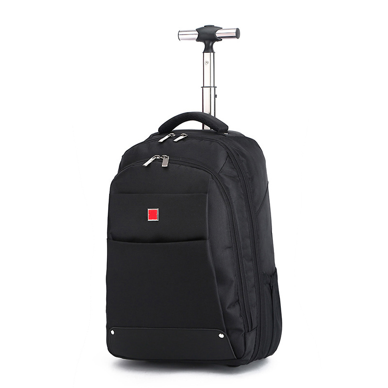 BeaSumore Rolling Luggage Travel bag 18 inch Black Shoulder Bags Oxford Computer Backpack Trolley Case Men