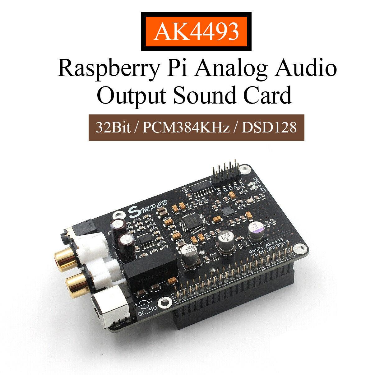 Nobsound Hi Fi AK4493 DAC Decoder Board for Raspberry Pi Digital Player 32Bit PCM384KHz DSD128