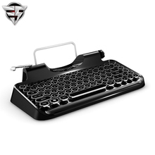 USB Bluetooth Mechanical keyboard restoring ancient ways Steampunk typewriter Cherry switch for ipad/Macbook/Windows/Android