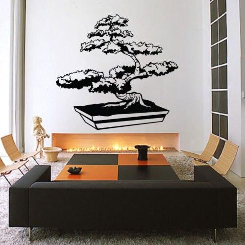 Hwhd Bonsai Tree Wall Decal Sticker Vinyl Decor Mural Bedroom Kitchen Art Zen An Free Shipping