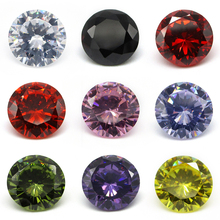 Free Shipping 1.0~10.0mm AAAAA Various Color Loose Cubic Zirconia Stone Round Brilliant Cut CZ Stone Synthetic Gems For Jewelry