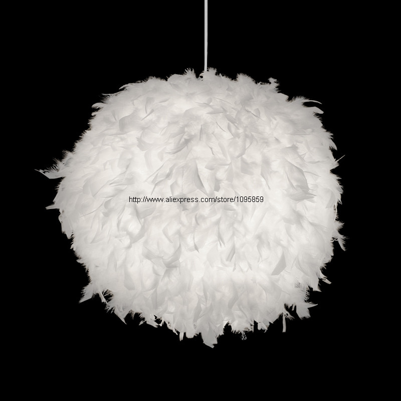 White/Black/Pink/Rose/Red/ Purple/Wine Red Modern Globe Shade Feather Pendant Light Lamp Indoor Deco Ceiling Fixture Lighting red