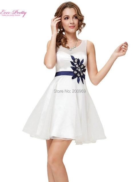 681de0a3bf2 Prom Dress 2016 Vestido White Round Neck Open Back Short Summer Graduation  Party Dress HE03918BL