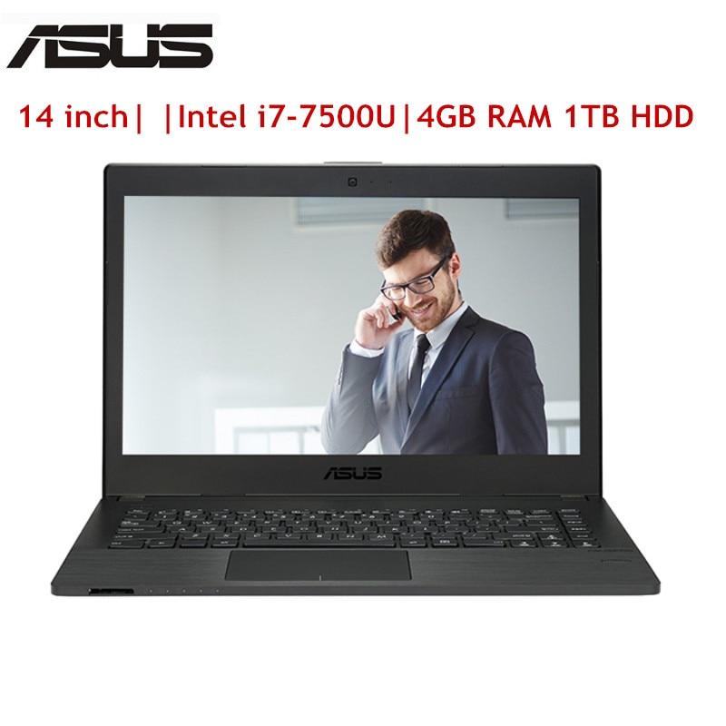ASUS P2440UQ7500 Notebook 14.0 Inch Windows 10 Pro Intel I7-7500U 2.7GHz 4GB RAM 1TB HDD Fingerprint HDMI Bluetooth 4.1 Laptop