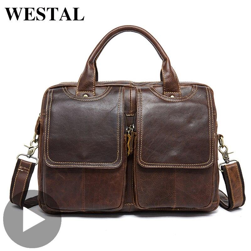 Briefcase Big-Crossbody Shoulder-Bag Messenger Male Genuine-Leather Fashion Luxury Men