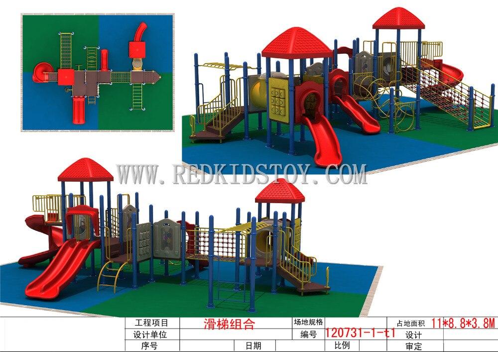 2015 meilleure vente enfants aire de jeux extérieure CE approuvé équipement de jeux antirouille TS2012-120-1