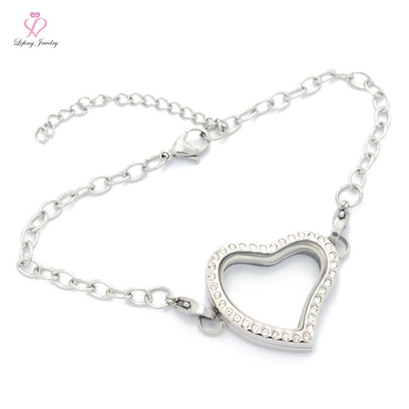 Aliexpress.com : Buy Fashion Medium Heart Crystal Silver