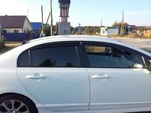 Image 1 - Car Window Visor Vent Ombra Deflettori Pioggia Sun Guard Copertura Per Honda Civic 2006 2007 2008 2009 2010 2011 4dr sedan Car Styling