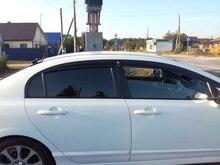 Car Window Visor Vent Shade Deflectors Rain Sun Guard Cover For Honda Civic 2006 2007 2008 2009 2010 2011 4dr Sedan Car Styling