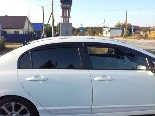 Window Visor Shade Sun Guard For Honda Civic 4 Dr 2006 2007 2008 2009 2010 2011