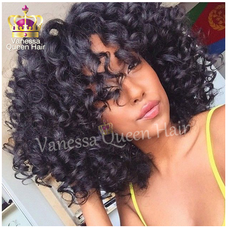 Free Shipping Kinky Afro Curly With Bangs Black Ombre Bob Hair Heat