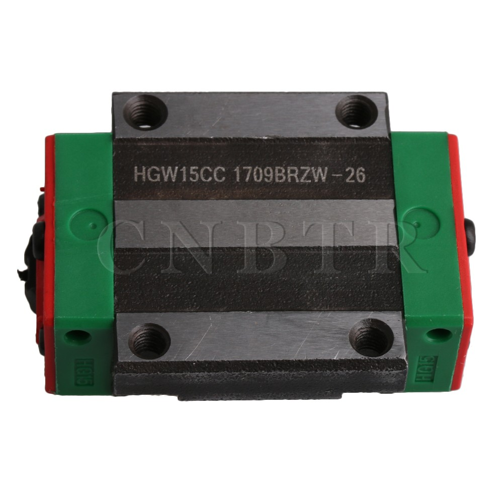CNBTR HGW15CC Flange Type Bearing Steel Linear Guide Rail Sliding Block Carriage Rail Block Slider for HR15 Linear Rail Guideway good china quality guideway precision linear guide rail slider hgh35 100mm
