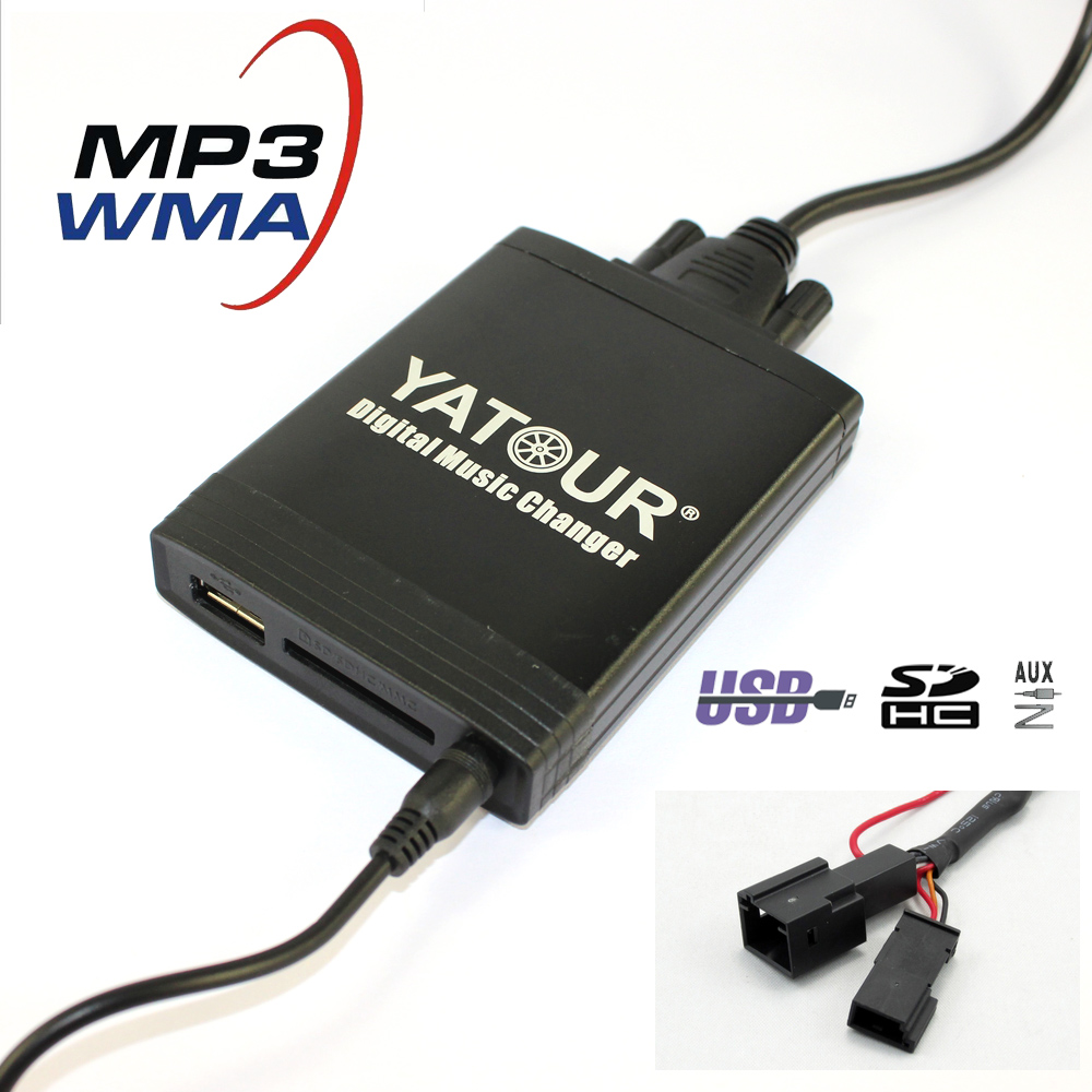 Yatour YT-M06 Digital music Changer For 1991-2006 BMW 3pin+6pin E46 E39 E38 X5 USB MP3 SD AUX adapter BT interface yatour for vw radio mfd navi alpha 5 beta 5 gamma 5 new beetle monsoon premium rns car digital cd music changer usb mp3 adapter