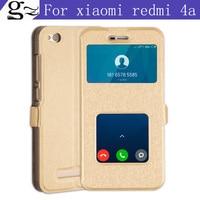 A Quality Open Window Grain 5 0 Inch For Xiaomi Redmi 4a Pu Flip Soft Shell