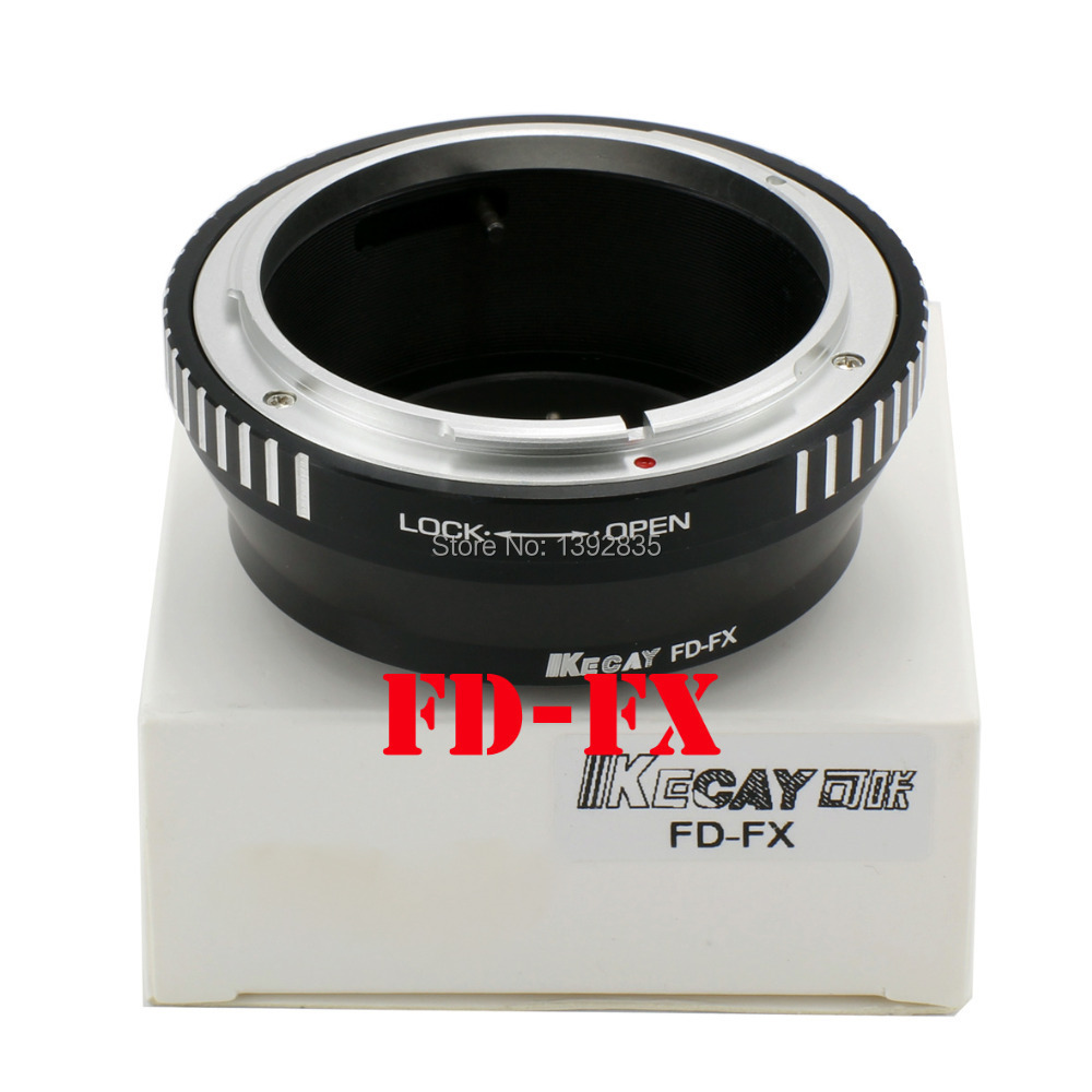 Kecay High-precision FD-FX Aluminum Alloy for Canon FD Mount Lens Adapter Ring for Fujifilm FX X Mount X F X-Pro1 CameraX