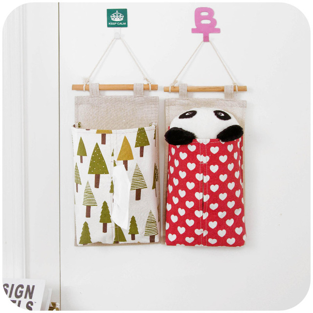 Things To Hang On Walls hanging storage bag cotton, multi purpose small things back wall