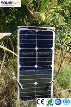Solarparts 2pcs 25W Solar Panel for YachtRoof Power Generation Motorhome Caravan Campervan RV Off grid Solar