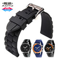Durable Waterproof Silicone Rubber Strap Stainless Steel Buckle for Armani AR5864/AR5865/AR5866/AR5878 Sport Watch band+Tools