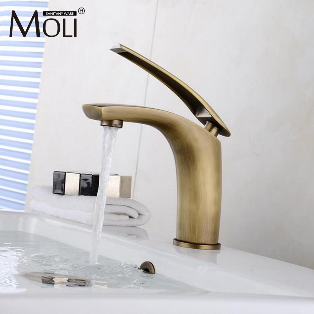 Antique Bronze Basin Sink Mixer For Bathroom Vessel Faucet Brass