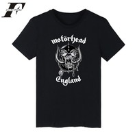 LUCKYFRIDAYF Motorhead T Shirt Men Black Summer Style British Metal Band Basic Man Tshirt Top Casual
