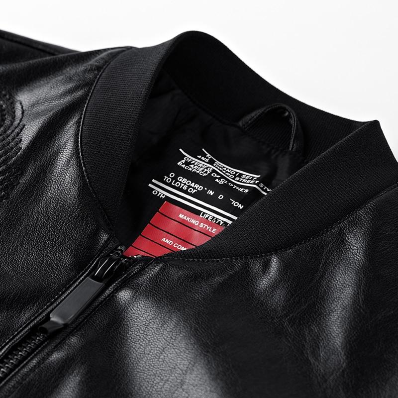 Moto Veste Streetwear 2019 Classique Hommes Bombardier Homme Multi À fermetures Conception Glissière Cuir blue En Biker Black Vestes Manteaux ZEwqaZr