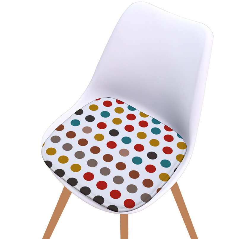 Seat Cushion For Office Chair Geometric Printed Kitchen