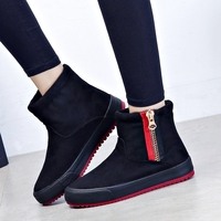 Women Boots Side Zipper 2018 New Lady Snow Boots Short Suede Leather Winter Warm Boots Antiskid Outsole Fashion Style Size 35 40