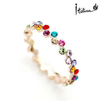 2017 New Sale Real Brand TracyKwok Rings for women Genuine austrian crystal Gold Color Fashion ring healthy #RG95241