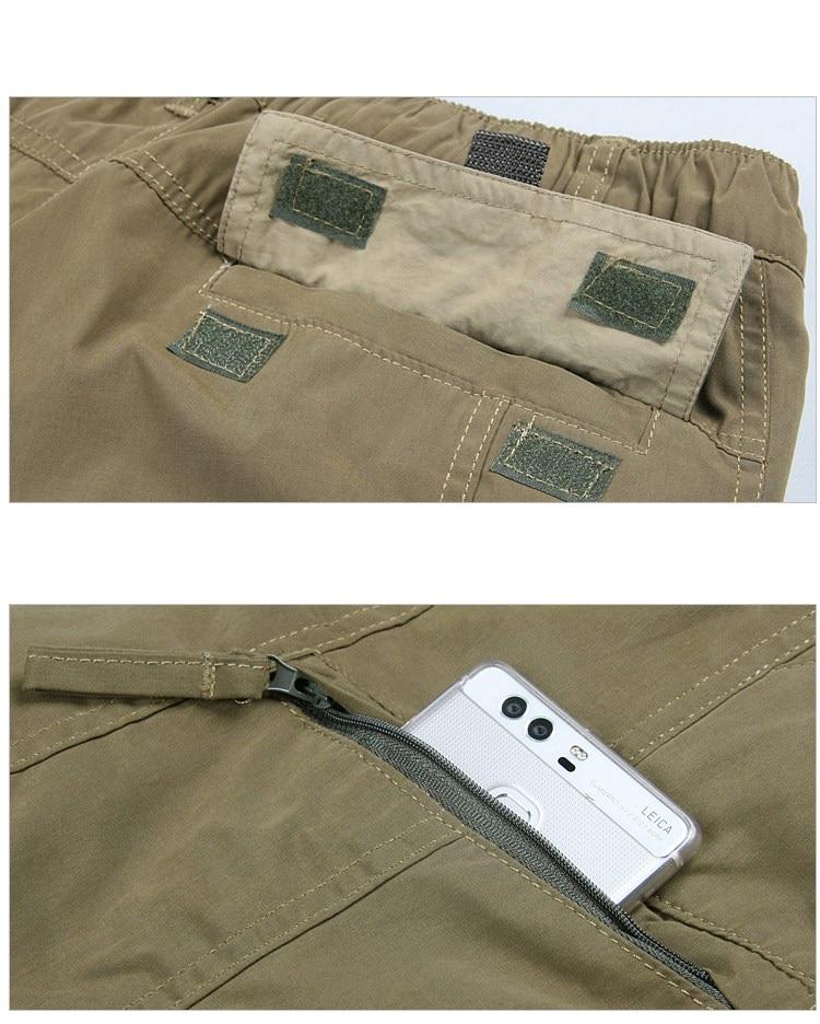 Men's Cargo Pants 2019 Winter Casual Warm Thicken Fleece Pants Men Cotton Multi Pockets Combat Military Baggy Tactical Pants 13