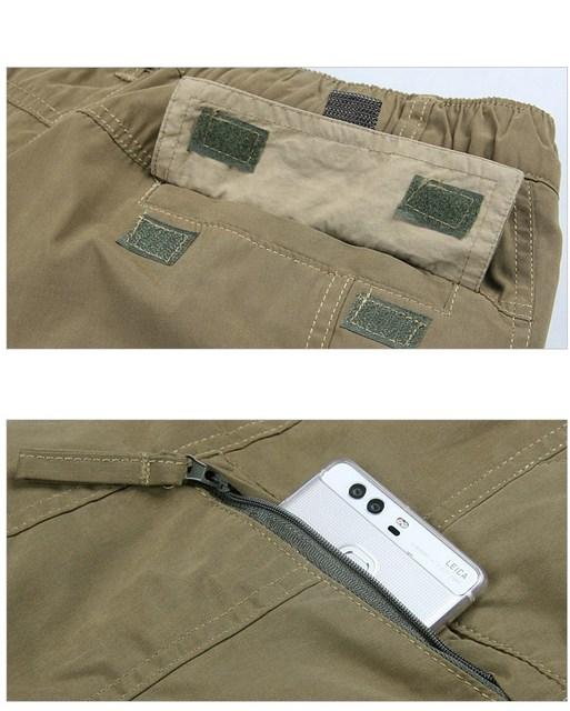 Men's Cargo Pants 2019 Winter Casual Warm Thicken Fleece Pants Men Cotton Multi Pockets Combat Military Baggy Tactical Pants 6