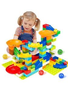 Building-Blocks Maze-Ball Track Marble Plastic Race-Run Slide 52-296PCS Bricks Funnel
