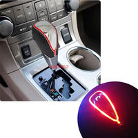 M8 x 1.25 Universal Touch Activated Red Light LED Gear Shift Knob for Manual Transmission Car Shifter