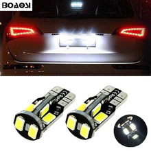 BOAOSI 2x T10 W5W Car LED Light Bulbs License Plate Lamp For