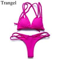 Trangel Sexy Thong Bikini Newest Padded Cut Out Bikini Sets Push Up Swimwear Women Brazilian Swimsuit