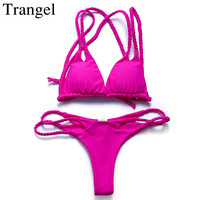 Trangel Sexy Thong Bikini Newest Padded Cut Out Bikini Sets Push Up Swimwear Women Brazilian Swimsuit