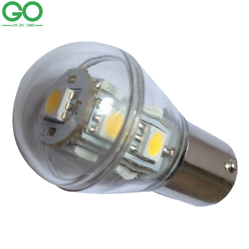 LED Ball Bulb S8 2W Lamp Light bay15d 1157 ba15d 1142 ba15s 1156 External Parking Light Turn Signal Marine Boat Home Lighting
