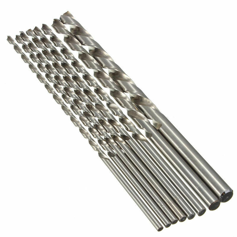 1Pc Silver Twist Drill Bit 2/3/4/5/6/7/8/9/10mm HSS Steel Drill Bit Metal Drill Replacement 200mm For Drilling Wood