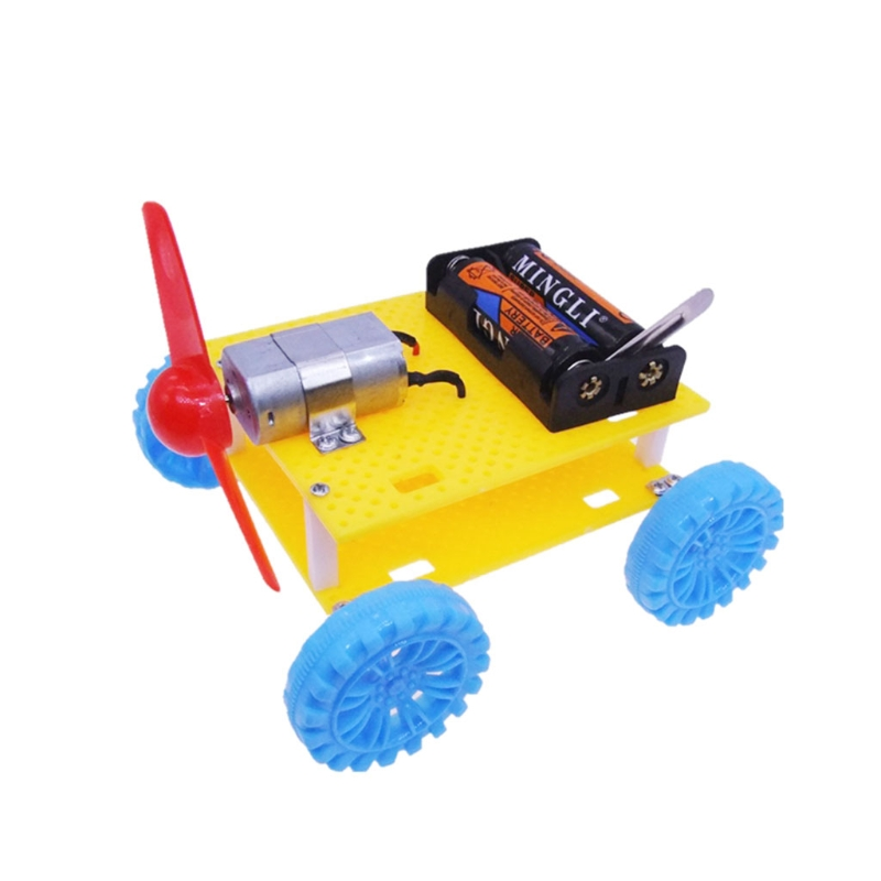 Top Quality Physical Science Experiments DIY Electric Wind Car Child Kids Student Technology