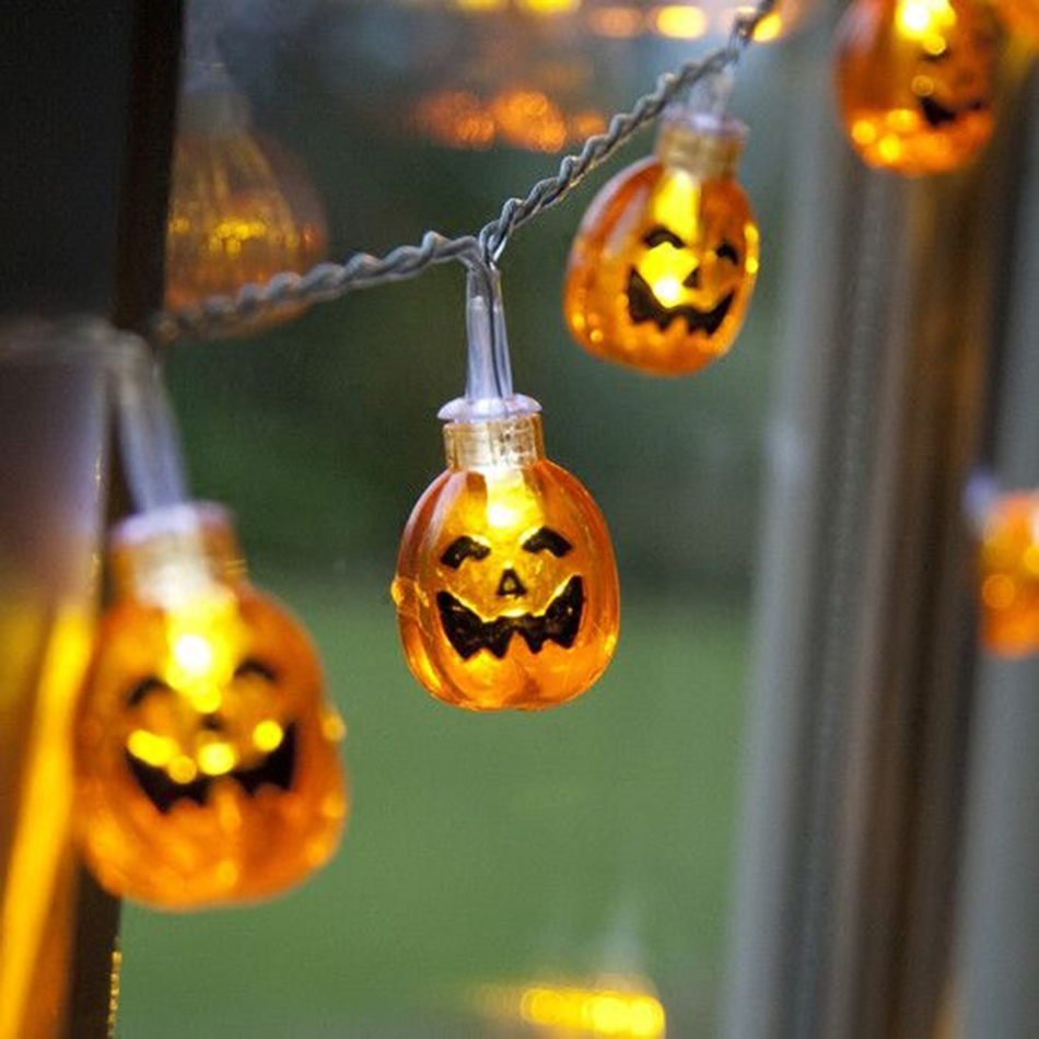 Halloween party led string light battery operated/pumpkin hanging decorative/ led string light for party /holiday decoration