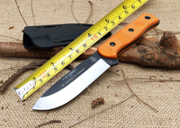 Brothers of Bushcraft Fieldcraft TOPS Tactical Fixed Knife,9Cr18Mov Blade G10 Handle Camping Survival Knife.