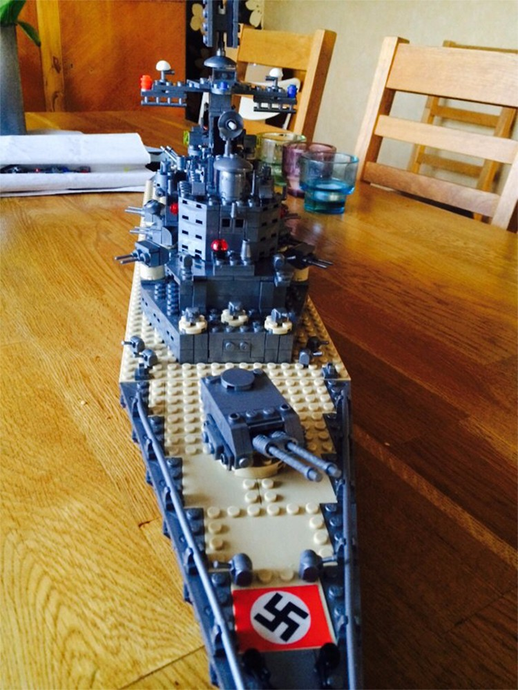 Model Building Kits Compatible With Lego City Military Bismarck