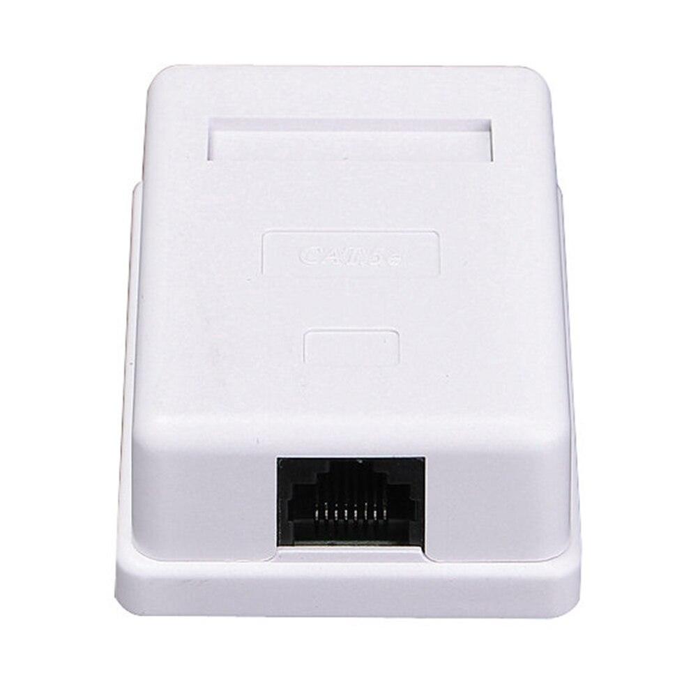 RJ45 Box White Information Module Ethernet Single Port Network Connector Desktop Extension Cable Junction Unshielded