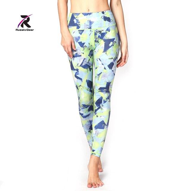 Yoga Printed Leggings and Capris Running Pants Women Sportswear For Fitness  Jogging Fitness Calzas Deportivas Mujer HK3501 ab96c04e9105