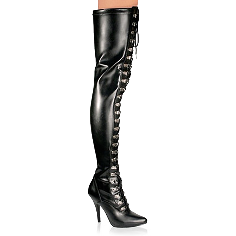 12cm High Heels Thigh Long Boots Black Women Shoes Sexy Patent Leather Over Knee Fenty Beauty Boots Ladies Shoes Big Size 4512cm High Heels Thigh Long Boots Black Women Shoes Sexy Patent Leather Over Knee Fenty Beauty Boots Ladies Shoes Big Size 45